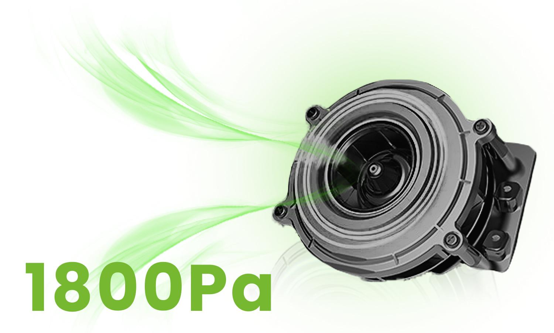 Moneual Mbot 500 posiada bardzo mocny silnik z siłą ssania 1800Pa