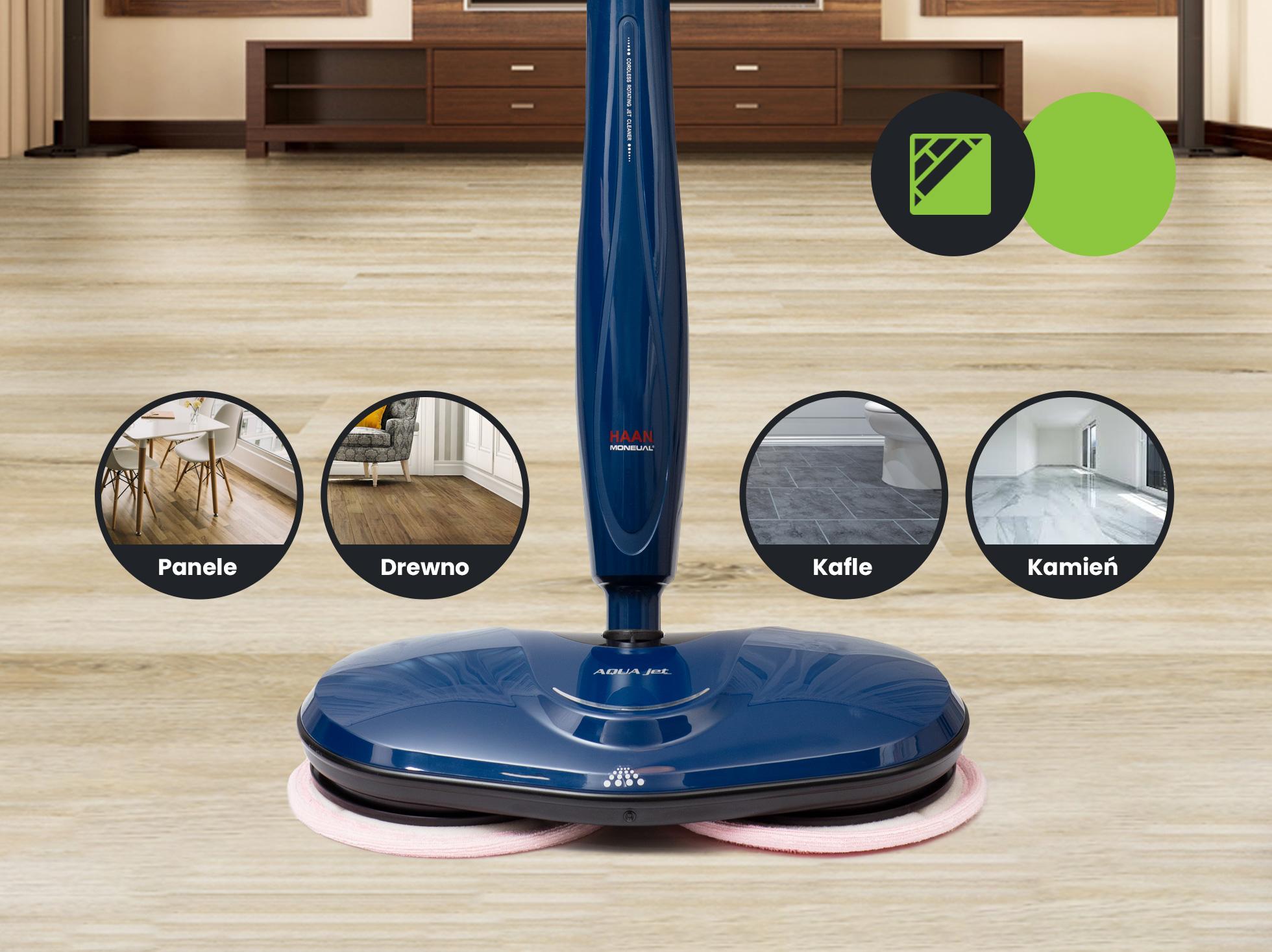 Mopa elektrycznego możesz używać do wielu różnych powierzchni