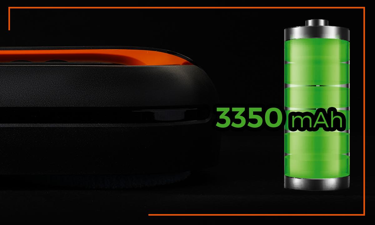 Robot mopujący posiada potężną baterię 3325 mAh