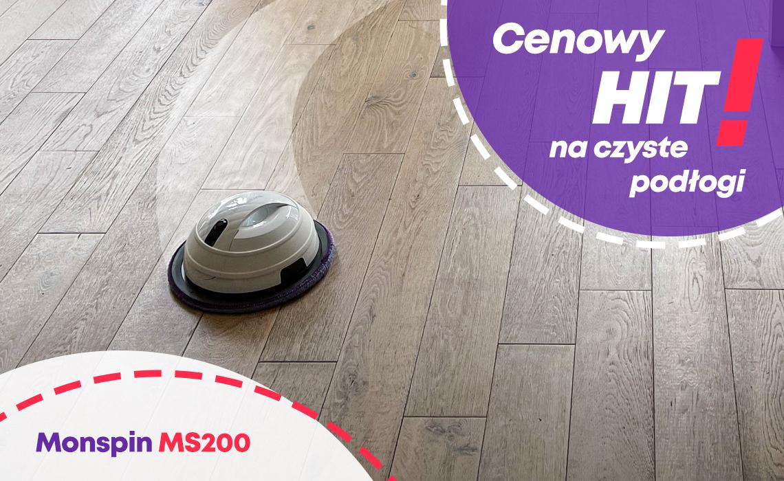 Robot mopujący posiada rotacyjny tryb pracy