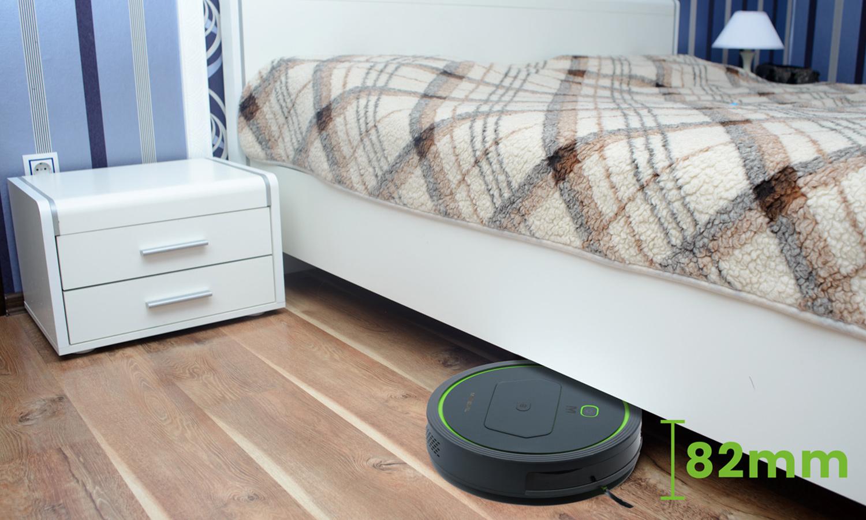 MOneual Mbot 500 jest najniższy w swojej klasie, ma 8,2cm wysokości i bez problemu wjedzie pod łożko czy meble